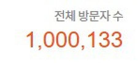 와아 블로그 총 방문자가 100만명을 돌파했습니다