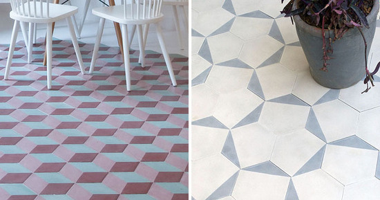 *타일 패턴 Examples Of Tile Flooring With Geometric Patterns