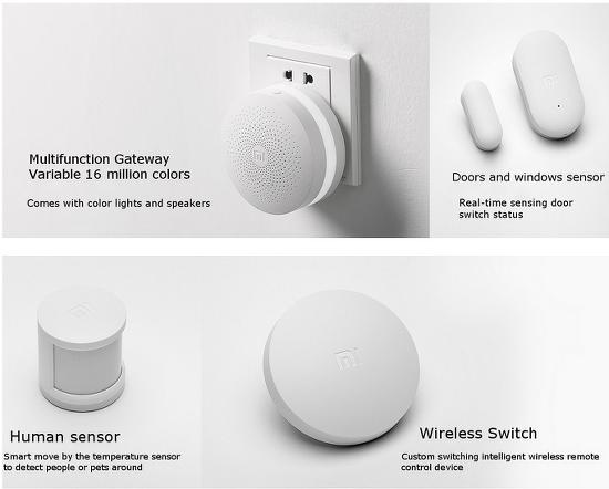 샤오미의 스마트홈 전략을 보여주는 제품(xiaomi smart home suit)