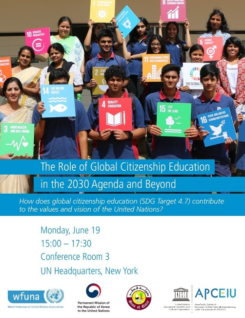 """""""The Role of Global Citizenship Education in the 2030 Agenda and Beyond"""""""