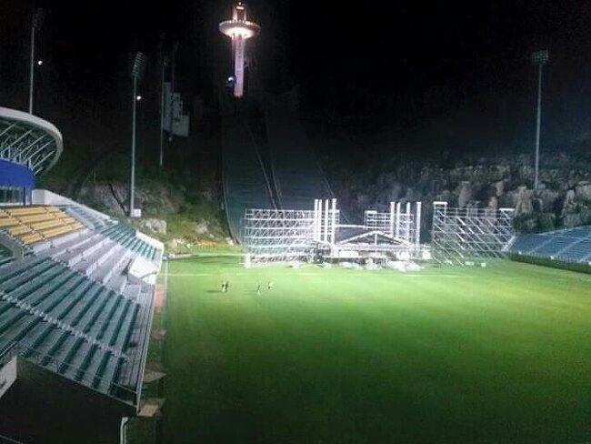 무한도전 영동고속도로 가요제 공연장 평창 알펜시아 스키점프 경기장