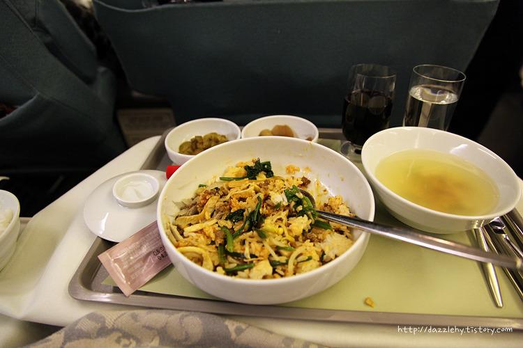 홍콩 부산 대한항공 비즈니스 기내식