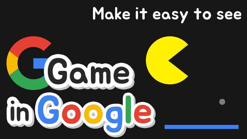 구글이 숨겨놓은 게임?! 구글 이스터에그 게임..