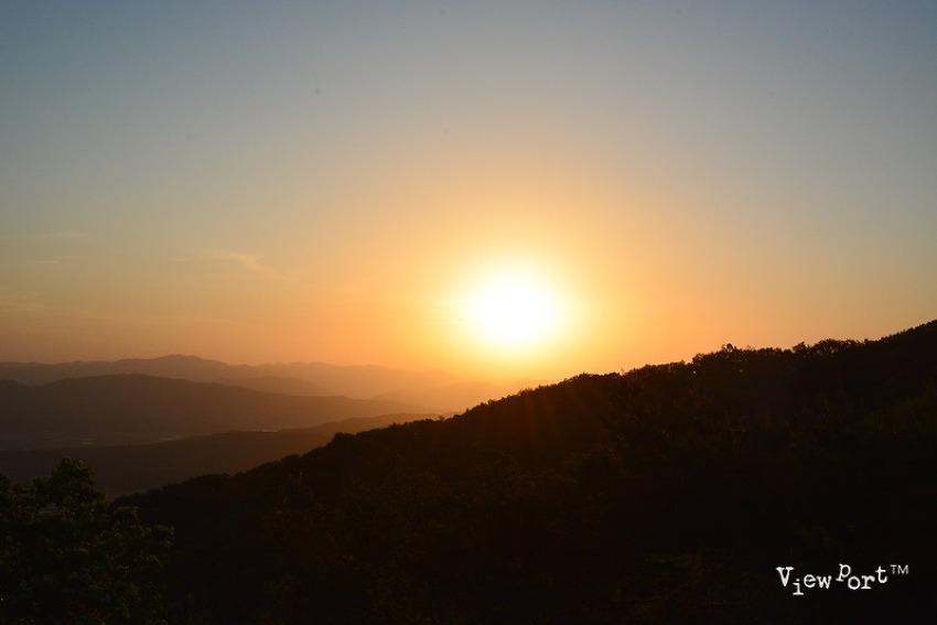 경주여행] 석굴암전망대 바라본 토함산 석양