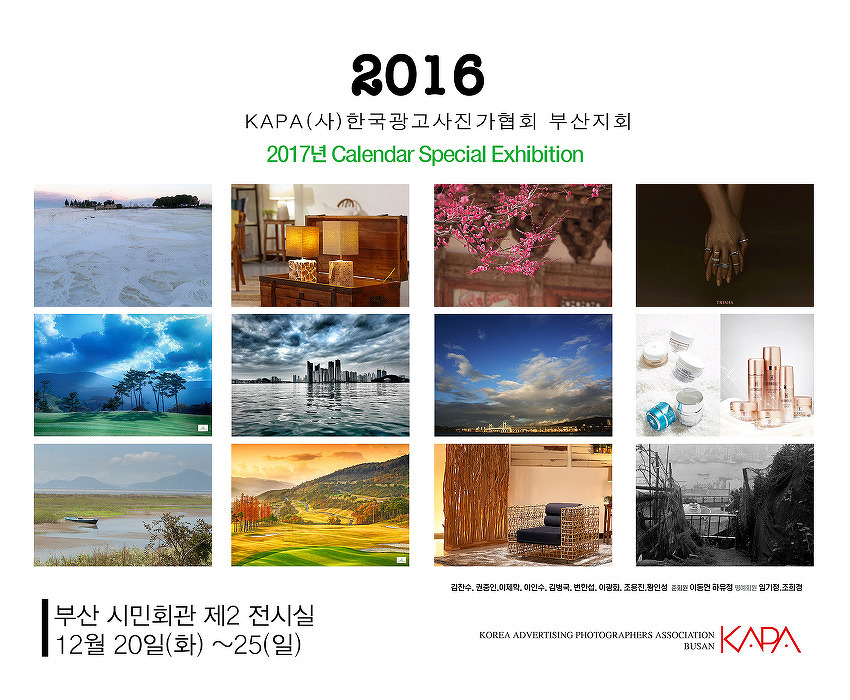 한국광고사진가협회 부산지부 지회전
