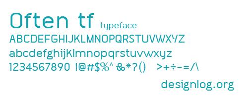디자인 폰트 - Often tf