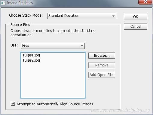 포토샵, 재미난 기능 스택모드(Stack Mode)