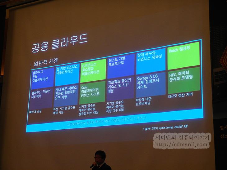 윈도우 서버 2012, 윈도우서버 2012, 서버2012, 발표회, 후기, 서버, 운영체제, 윈도우 2008, Windows Server 2012 신제품 발표회, Dell, HP, 스토리지, 리뷰, IT, 윈도우 서버 2012 발표회에서 여러가지 설명을 듣고 왔습니다. 그리고 각 회사마다 나온 새로운 서버들과 새로운 서비스들도 살펴보았습니다. 개인적으로는 윈도우 서버 2012의 능력 및 실제로 구현되어있는 서버 자체에 관심이 많았는데요. 여러 회사들이 나와있었고 제일 먼저 눈에 띈 IBM 서버를 살펴봤는데요. 살펴보던 중에 실제 서버 기술자와 이야기를 나눌 수 있었습니다. 윈도우 서버 2008 부터 꾸준히 여러가지 기술을 도입하여 이제는 윈도우 서버 2012에서 거의 완성단계로 온듯합니다.   Hyper-V 를 통해서 서버를 가상화하여 자원을 안정적이고 효율적으로 관리하고 여러가지 위험 관리기술을 자동화해서 서버 운영에 도움을 주는 기술들이 많이 적용되어있었습니다. 강의를 듣기 전에 기술자분께 여러가지를 많이 물어봤는데 저는 이때 궁금했던점을 많이 풀었습니다.   이야기를 들으면 들을 수 록 참 많은것을 연구해서 만들었구나 하는 생각은 들더군요. 비행기 1대에 들어가는 부품의 수가 엄청나다고 하지만 운영체제에 들어간 기술의 수는 그보다 많다고 하더군요. 들으면 들을 수 록 한번쯤은 써보고 싶게 만든 윈도우 서버 2012에 대해서 지금 살펴보도록 하겠습니다.