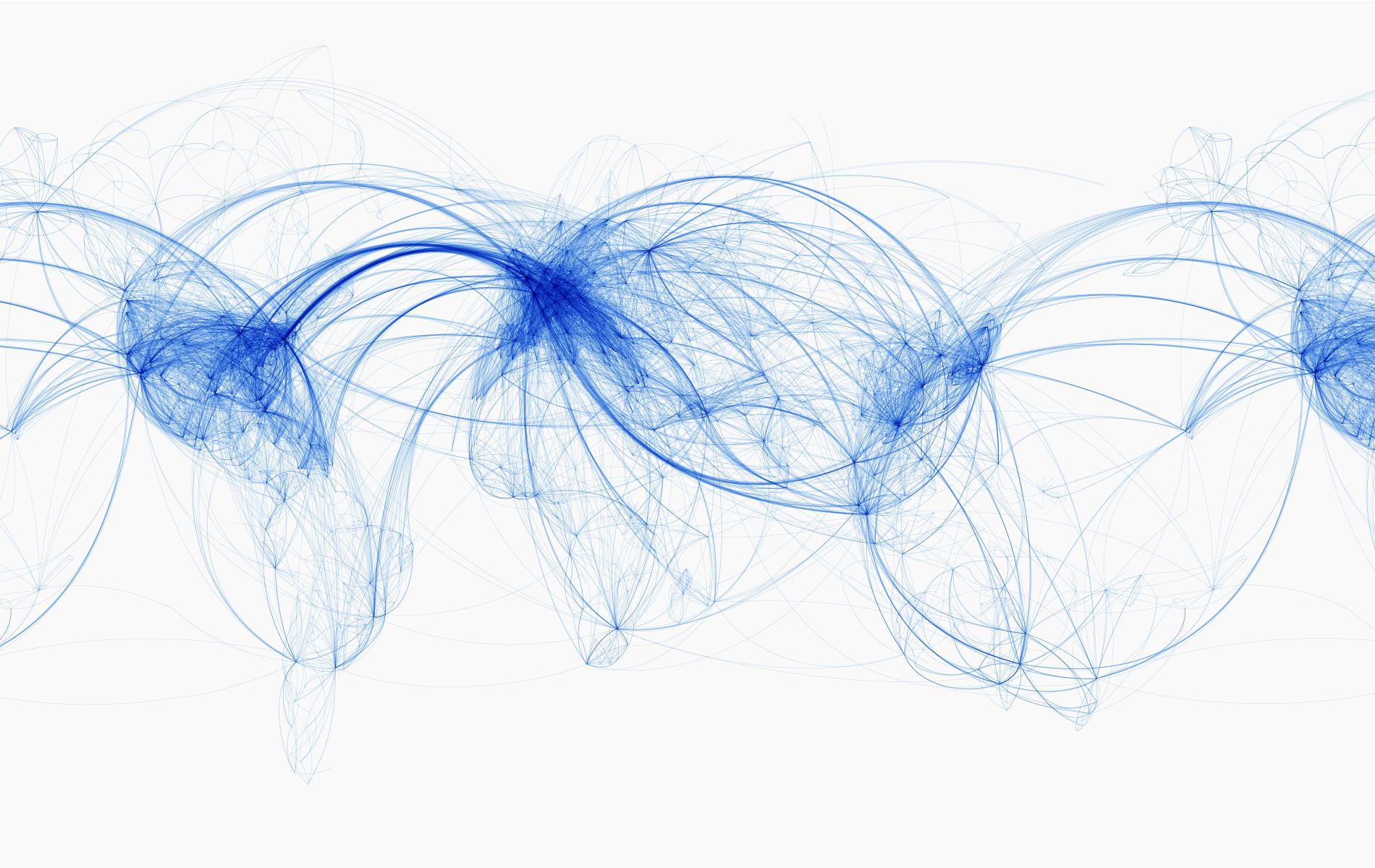 전 세계 항공 노선도 (이미지 클릭하면 큰 그림으로 볼 수 있다)