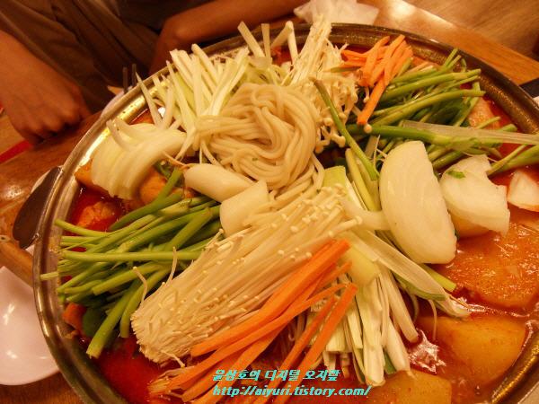 양퍄 파 미나리 팽이버섯 떡 당근