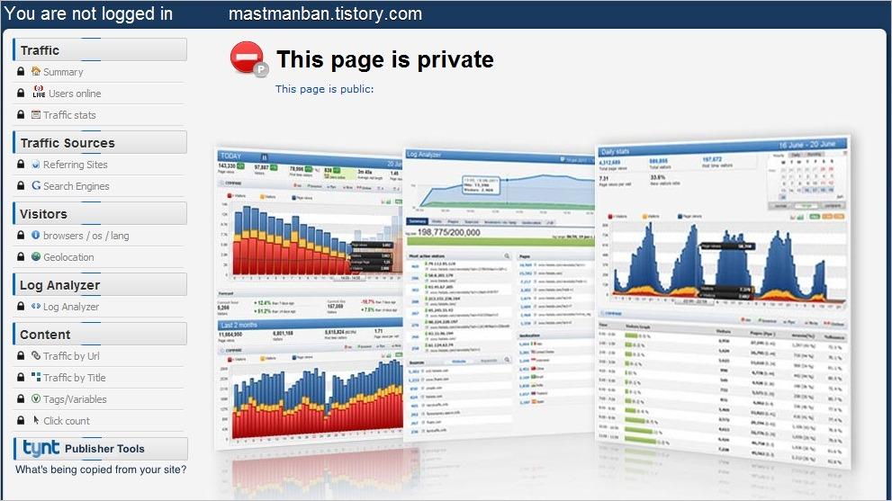 실시간 접속자수 통계 서비스 블로그 위젯 추천 Histats
