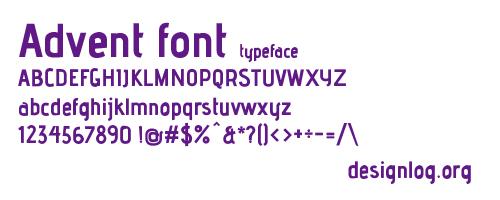 디자인 폰트 - Advent Font