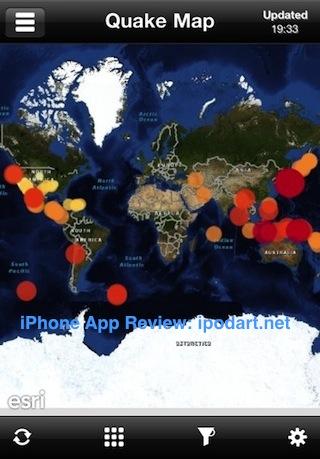 아이폰 지진 정보 QuakeFeed