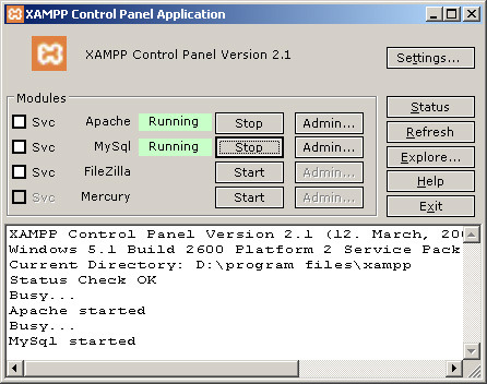 It is xampp win32 173 ideal tool for people who dont know much about how proxies work