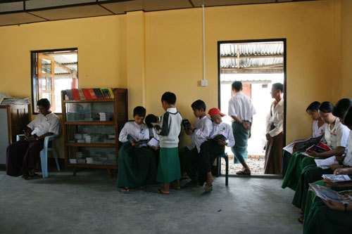 미얀마의 도서관