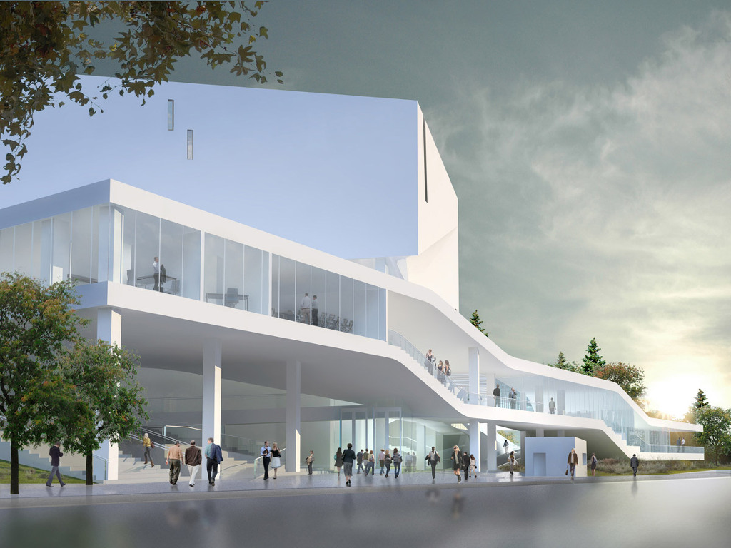 Michael Maltzan Architecture Mashouf Performing Arts Center 5osa