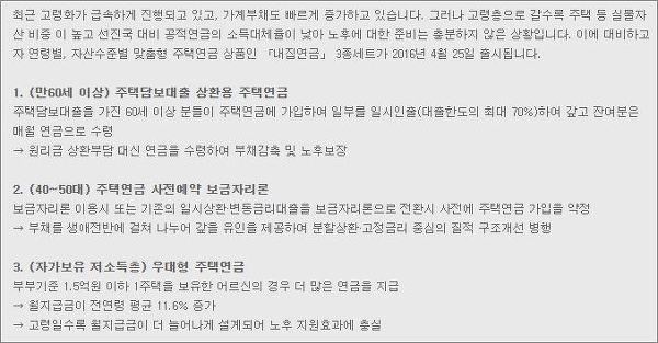 한국주택금융공사 홈페이지 캡쳐