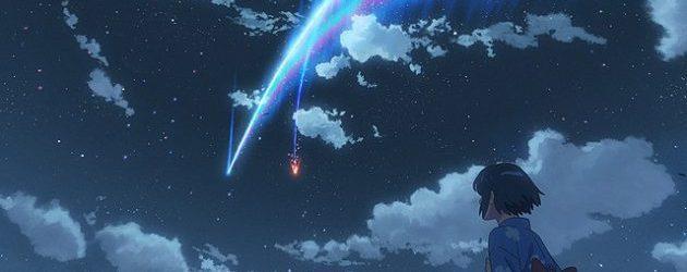 사진: 혜성이 둘로 쪼개져서 그 중 하나가 마을을 덮치기 전의 장면. 영화에서는 마을 사람들이 다 죽었다가 일부 살아나는 것으로 바뀐다. [영화 너의 이름은 결말과 줄거리, OST]