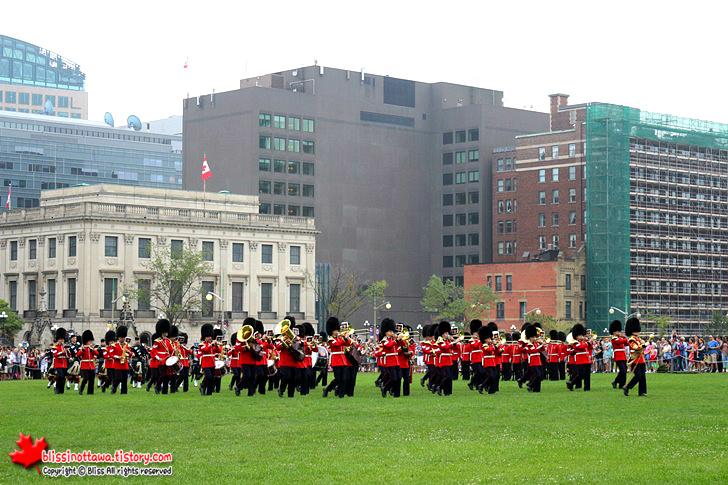 캐나다 국회의사당 70주년 광복절 기념행사