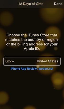 12 Days of Gifts 아이폰 아이패드 앱 음악 영화 책 무료
