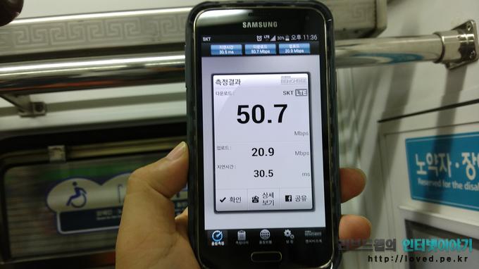 갤럭시S5, 광대역 LTE-A, 갤럭시S5 광대역 LTE-A, 속도측정, 광대역 LTE-A 속도