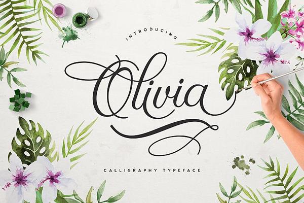 Olivia – Free Brush Font