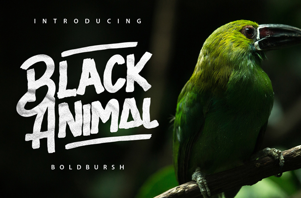 Black Animal – Free Brush Font