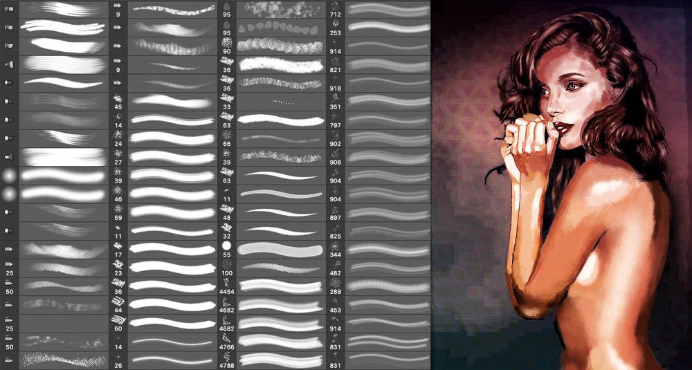220 가지 이상 무료 포토샵 브러시 세트 - 220+ Free Photoshop Brushes Set