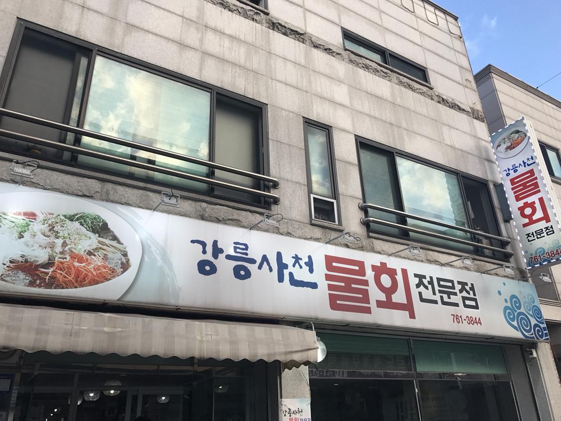 [원주]강릉사천 물회 전문점, 원주맛집 추천, 강원도 여행