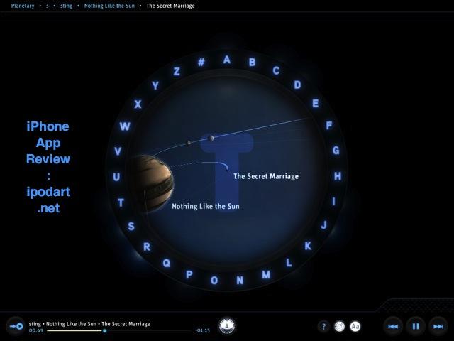 Planetary  아이패드 뮤직플레이어 우주
