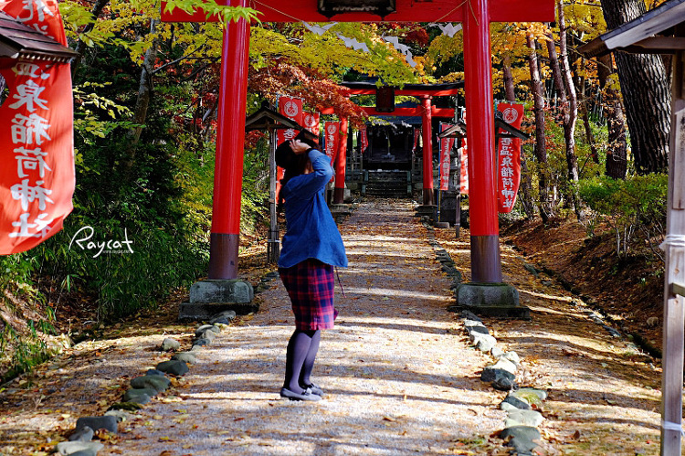 하나마키 온천 세슈카쿠 호텔 산책로 사당