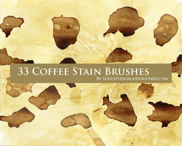 33 가지 커피 얼룩 자국(coffee stain) 포토샵 브러쉬 - 33 Free Coffee Stain Photoshop Brushes