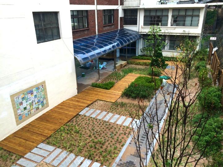 노량진초등학교 학교숲 모퉁이숲