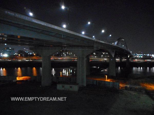 봄날의 응봉산 서울 야경 한강