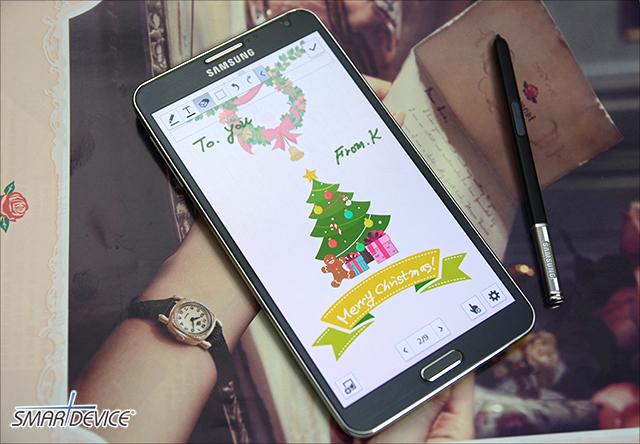 갤럭시노트3 S노트로 나만의 크리스마스 카드, 연하장 만들기