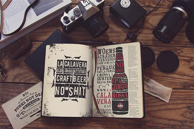 빈티지한 느낌의 스케치북 목업 PSD - Free Vintage Photo PSD Mockup