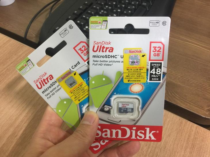 샌디스크 MICROSDHC ULTRA 32GB UHS-1 CLASS10 SanDisk 마이크로 SD카드