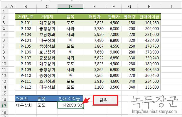 엑셀 Excel VBA 개발 도구를 이용해서 버튼 삽입하고 함수 연결하는 방법