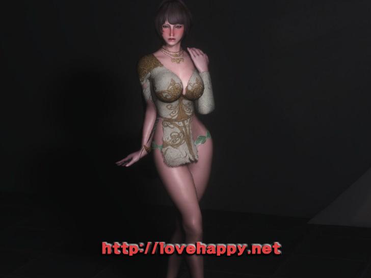 스카이림 의상 - 로그 의상 elika outfit clothes hdt skyrim mod 003