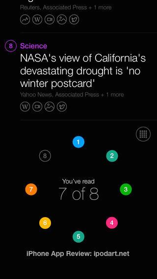 Yahoo News Digest 2014 애플 디자인 어워드
