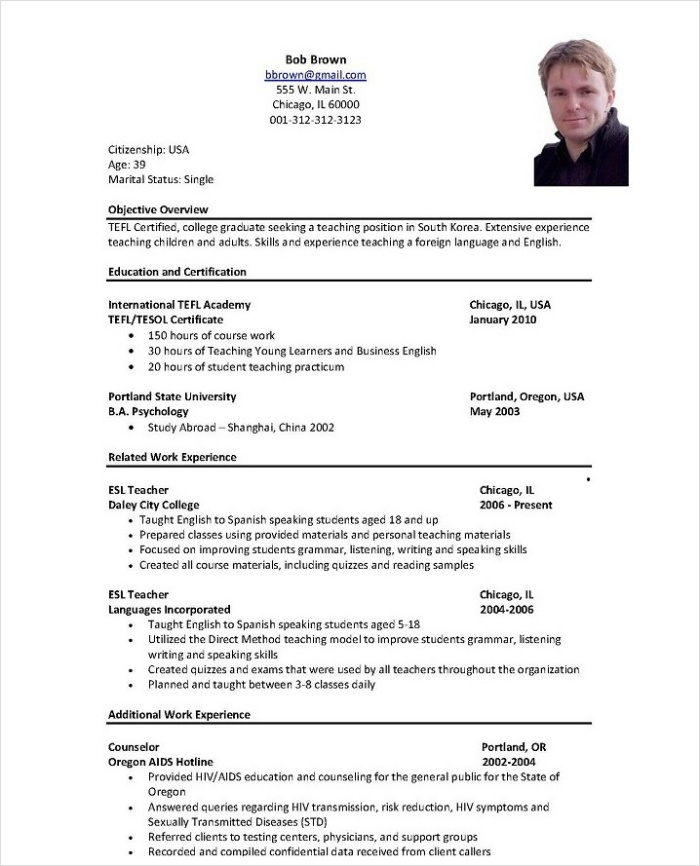 Ground staff resume format