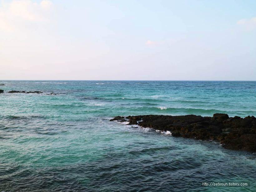 에메랄드빛 제주바다