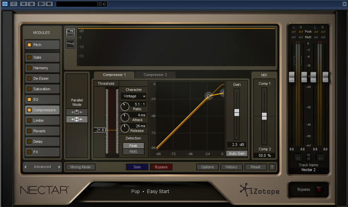izotope, Nectar, advanced mode,