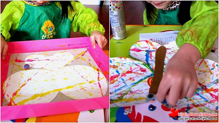 엄마표 유아 미술놀이 구슬 그림으로 나비 만들기