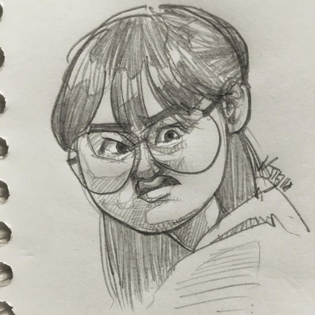 성보라, 류혜영 캐리커처