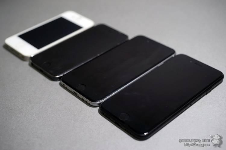아이폰7, iphone7, 블랙, 매트블랙, 후기, 비교