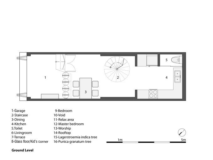 Ahl architects associates 3x10 house for Habitacion familiar en once