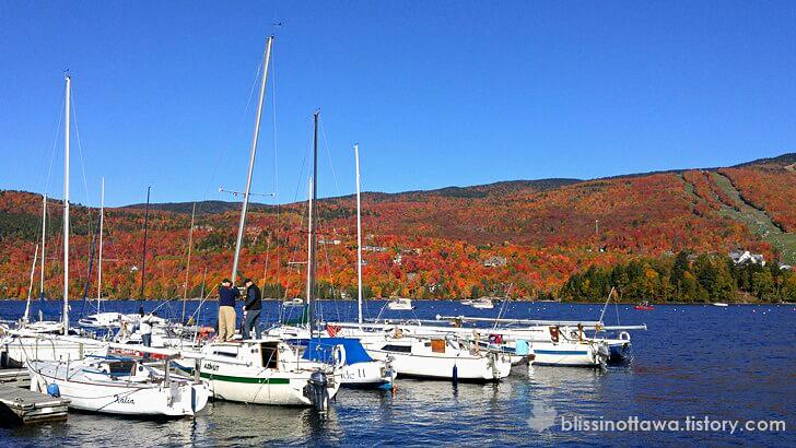 캐나다 퀘벡 Tremblant 호수