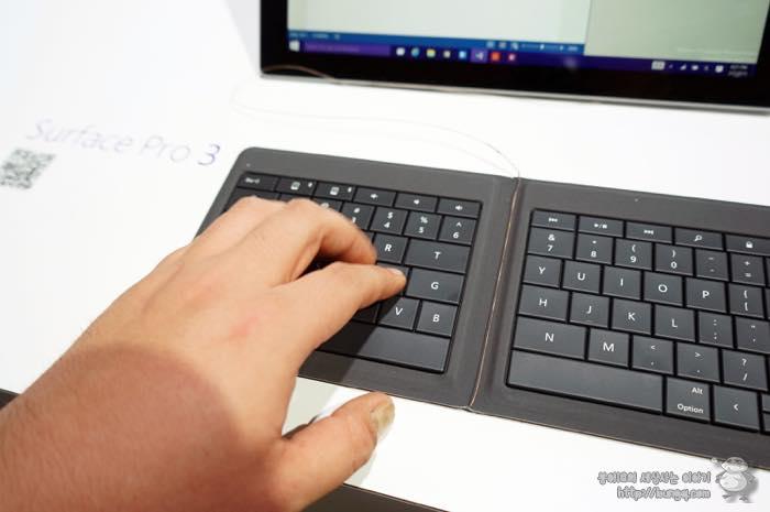 마이크로소프트, MS, MWC, 유니버설, 폴더블, 키보드, 디자인, 키감, 서피스3