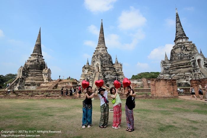 태국 여행 / 세계문화 유산 고대도시 '아유타야' 1일 투어 / 최대규모의 사원 '왓 프라 시 산펫'